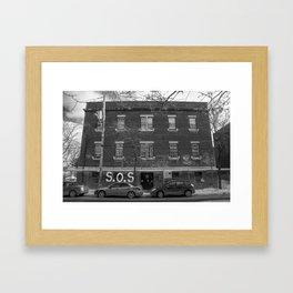 Pointe St. Charles SOS Framed Art Print