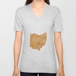 Gold Ohio Unisex V-Neck