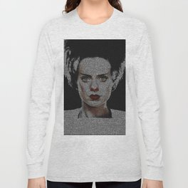 The Bride of Frankenstein Screenplay Print Long Sleeve T-shirt