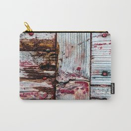 Cool Grunge Wooden Planks Carry-All Pouch