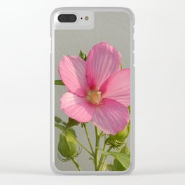 PINK MARSH MALLOW Clear iPhone Case
