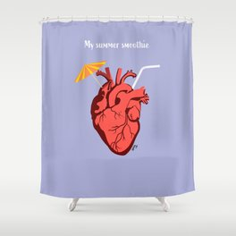 Heart Smoothie Shower Curtain