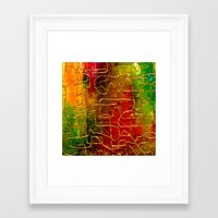 labyrinth Framed Art Prints featuring Labyrinth by Chicca Besso