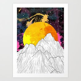 Cosmos Mounts Art Print