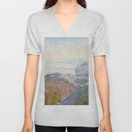 1897-Claude Monet-Val-Saint-Nicolas, near Dieppe (Morning)-25 x 39 Unisex V-Neck
