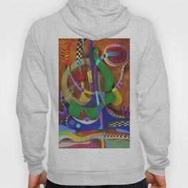 Painting abstract climbing in the mountains Hoody