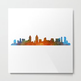 San Diego California City Skyline Watercolor v01 Metal Print