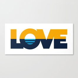LOVE - People's Flag of Milwaukee Canvas Print