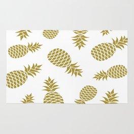 Golden pineapple pattern Rug