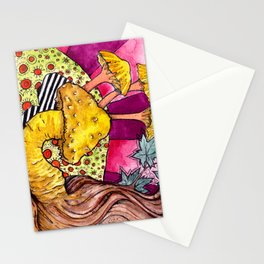 The Elephant in the Shroom Stationery Cards