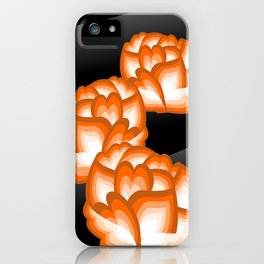 Orange Peonies iPhone Case