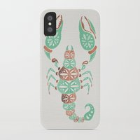 rose gold iPhone & iPod Cases featuring Scorpion – Mint & Rose Gold by Cat Coquillette