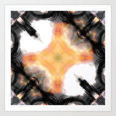 Water Rust Pattern 003 Art Print