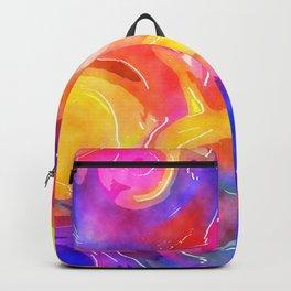 Swirly Watercolor Wash Backpack