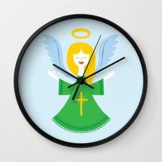 Angel Blue Wall Clock