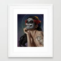 skulls Framed Art Prints featuring Skulls by Joifish