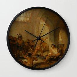 "Francisco Goya ""Casa de locos (The Madhouse)"" Wall Clock"