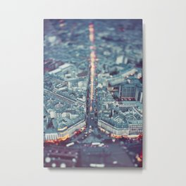 Paris, City of Lights. Metal Print