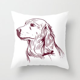 Golden Dog Throw Pillow