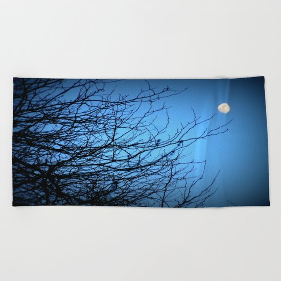 Moonlight at Dusk 2 Beach Towel