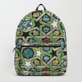 8-fold Rosettes with Flowers Backpack