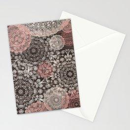 HAPPY GO LUCKY - BOHO WOOD Stationery Cards