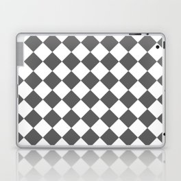 Diamonds - White and Dark Gray Laptop & iPad Skin