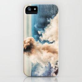 The summit of Karymsky Volcano iPhone Case