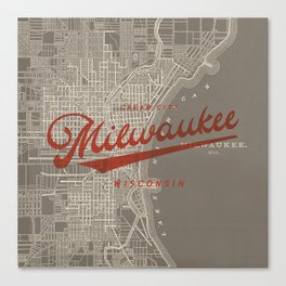 Milwaukee Map Canvas Print