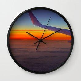Sunrise over the seventh sky Wall Clock