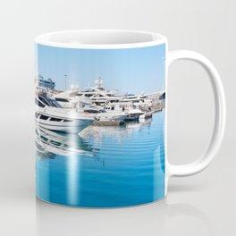 Sea Yacht Club in sunny day Coffee Mug