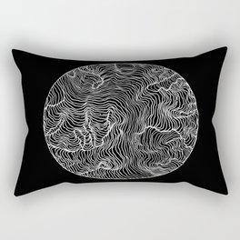 Black Riptide Rectangular Pillow