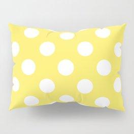 Maize - yellow - White Polka Dots - Pois Pattern Pillow Sham