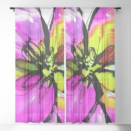 Ecstasy Bloom No.17e by Kathy Morton Stanion Sheer Curtain