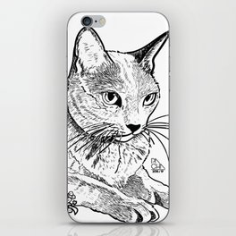 Cat and acacias iPhone Skin