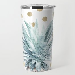 Pineapple crown - gold confetti Travel Mug
