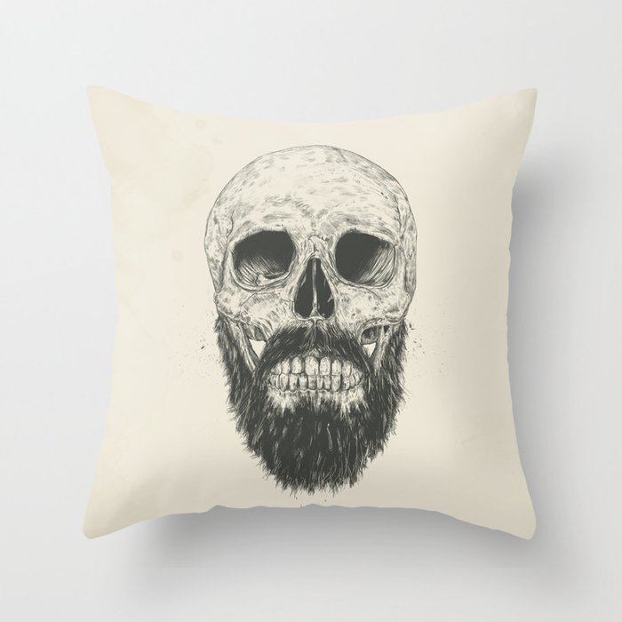 The beard is not dead Throw Pillow