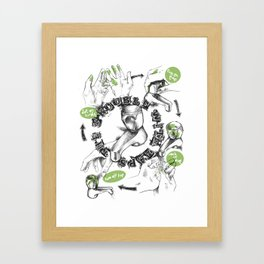 The Trouble with Taps Framed Art Print