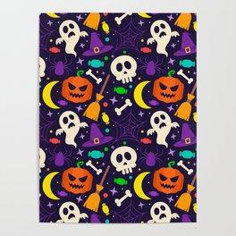 Happy Halloween Throw Blanket Poster