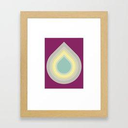 001 - Blue drop Framed Art Print