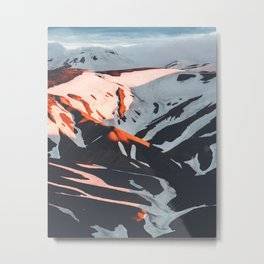 Golden Hour PNW Glacier Mountain Hike Metal Print