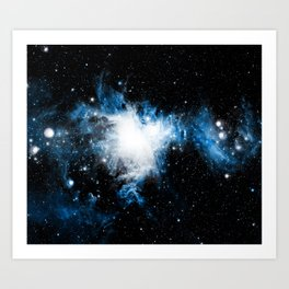 Orion Nebula Bluest Blue Art Print
