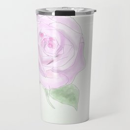 Bee with rose Travel Mug
