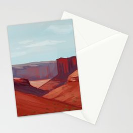 Red Landscape Stationery Cards