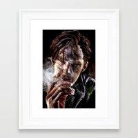 benedict cumberbatch Framed Art Prints featuring benedict cumberbatch by jiyounglee0711