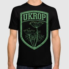 Ukrop Black X-LARGE Mens Fitted Tee