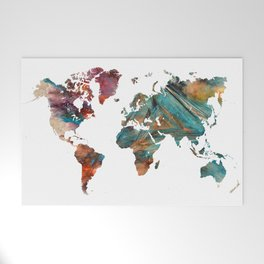 Map of the World triangle Welcome Mat
