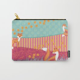 Foxes Carry-All Pouch