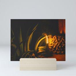 Oil lamp in Central America Mini Art Print