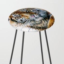 Tiger watercolor Counter Stool